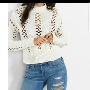 Crochet off white Express Sweater